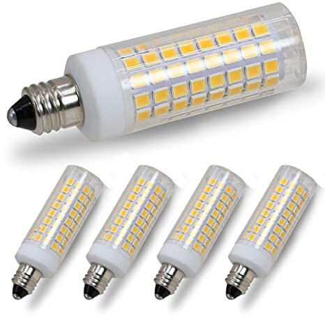 E11 Led Bulb Dimmable 75w 100w Halogen Bulbs Equivalent Jd E11 Mini Candelabra Base Ac110v 120v 130v 3000k Warm White For Chandeliers Ceiling Fan