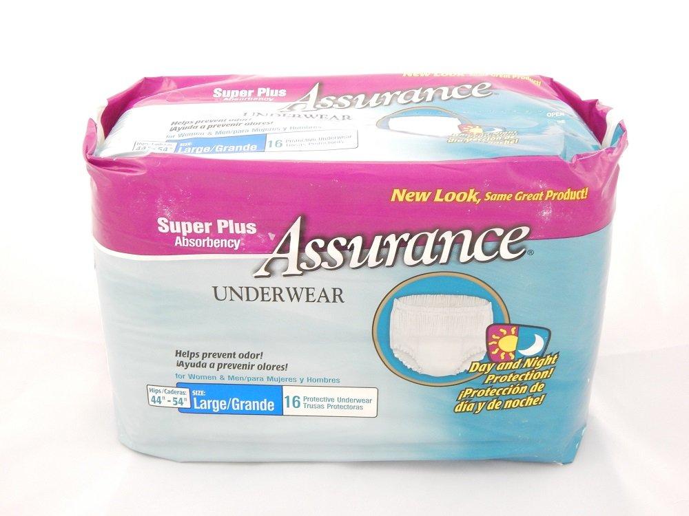 Amazon.com: Assurance Underwear Super Plus Absorbency Adult Diapers for Men & Women Unisex (Large 44