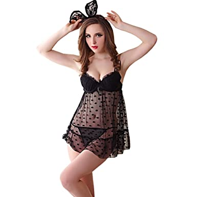 f09667539 Image Unavailable. Image not available for. Colour  Lace Women Sexy Pajamas  Dress ...