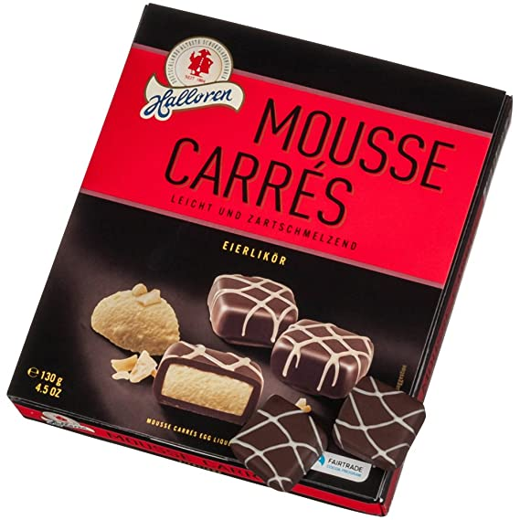 Halloren Mousse Carrés Huevo Licor Chocolates 130 g