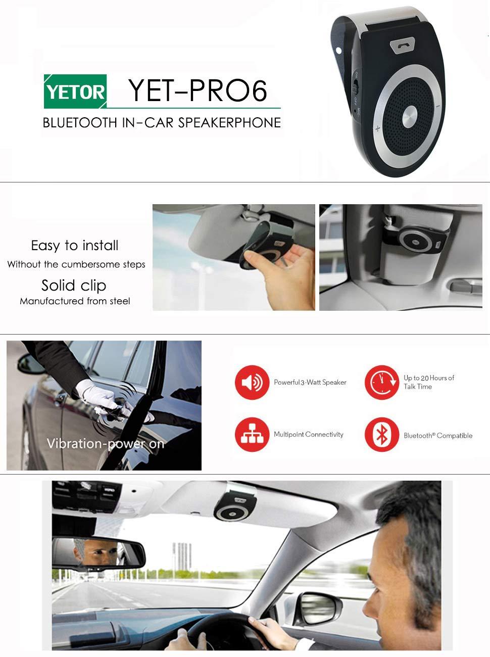 /Port/átil LG /Tel/éfono Manos Libres/ Samsung Compatible con iPhone A2DP inal/ámbrica Bluetooth 4.1/Auto/ HTC m/óv /Tel/éfono Manos Libres para el Parasol Auto/ iPad