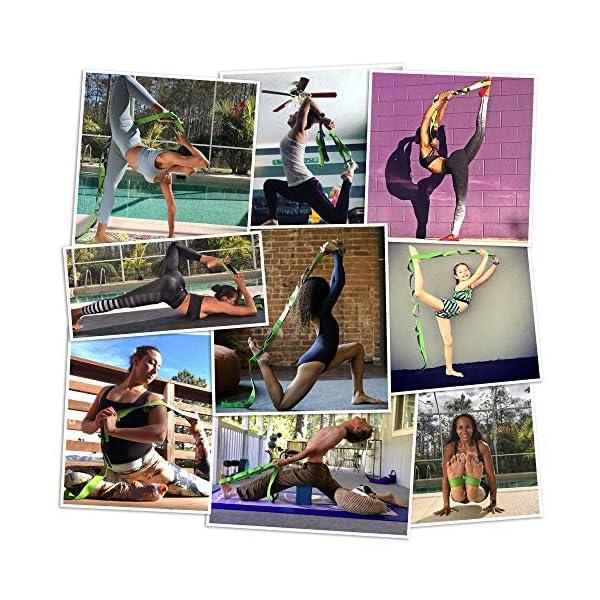 EverStretch Non-Elastic Cinghia Yoga Non Elastica ad Anelli - Cintura ad Anelli, Fascia per Stretching con Passanti… 5 spesavip