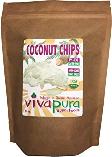 product image for Vivapura, Raw, Organic, Coconut Chips, 8 oz Compostable Bag
