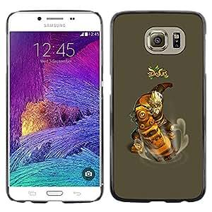 Caucho caso de Shell duro de la cubierta de accesorios de protección BY RAYDREAMMM - Samsung Galaxy S6 - Dofus