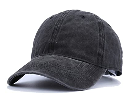 Unisex Vintage Washed Dyed Cotton Twill Baseball Cap Trucker Hat for Women  Men UV Protection Travel f3785ab1f3d9