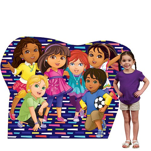 4 ft. 8 in. Dora & Friends Large Group Standee Standup Photo Booth Prop Background Backdrop Party Decoration Decor Scene Setter Cardboard Cutout