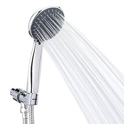 Handheld Shower Head High Pressure 5 Spray Settings Massage Spa Detachable Hand Held Showerhead Chrome Face
