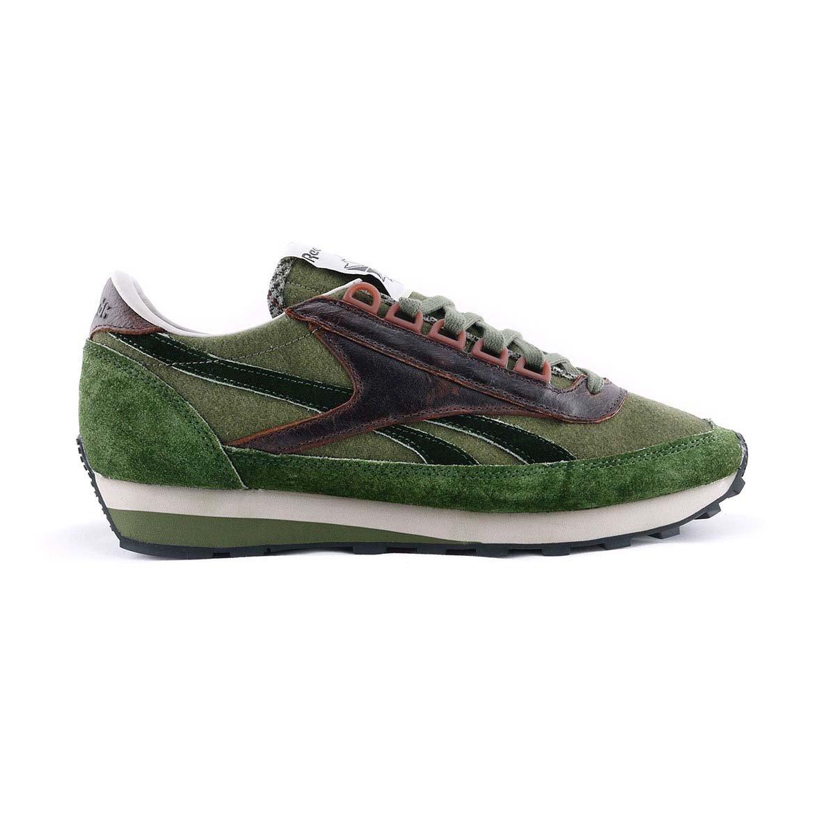 Reebok Schuhe Herren Turnschuhe Aztec CB in grün Wildleder