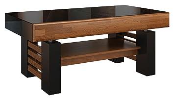 Lieblich Couchtisch Loungetisch Eiche Farbe: Walnuss / Schwarz 52x120x70 Cm,  Wohnzimmertisch Beistelltisch Clubtisch Teilmassiv
