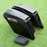 XMT-MOTO Stretched Extended Saddlebags + Speaker Grill Fis Touring Models FLT, FLHT, FLHTCU, FLHRC, Road King, Road Glide, Street Glide, Electra Glide, Ultra-Classic 2014 2015 2016 2017 2018