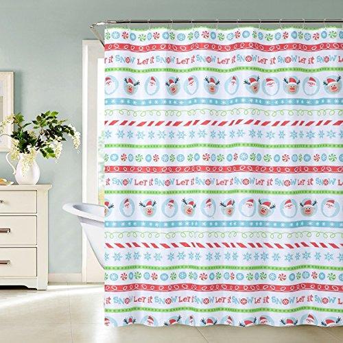 Daniel's Bath & Beyond Shower Curtain ELF, one Size, red ()
