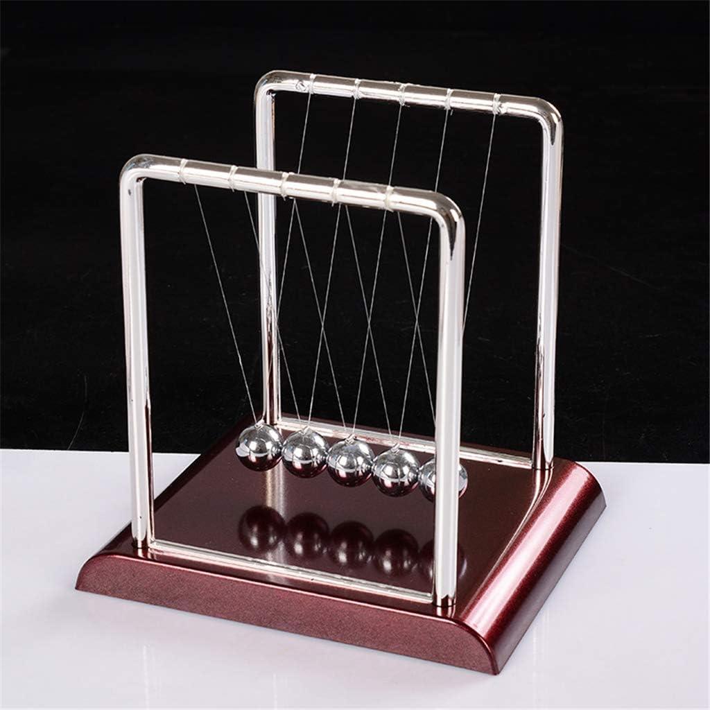 Junlinto Le Berceau de Newton en Acier Balance Ball Physique Science Pendule Bureau Jouets Jeux Bureau D/écoration de La Maison
