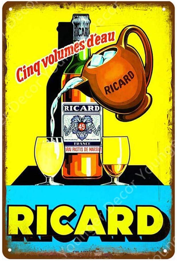 Sdbey Enseignes en M/étal Vintage Plaque Affiche Mur D/écor R/étro Bar /À Bi/ère Pub Accueil Plaque D/écorative Maison Mur D/écor Vin Chivas Ricard Affiche