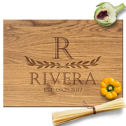 Froolu Two Leaves large wood cutting board for First Time Home Owners Housewarming Gifts ()