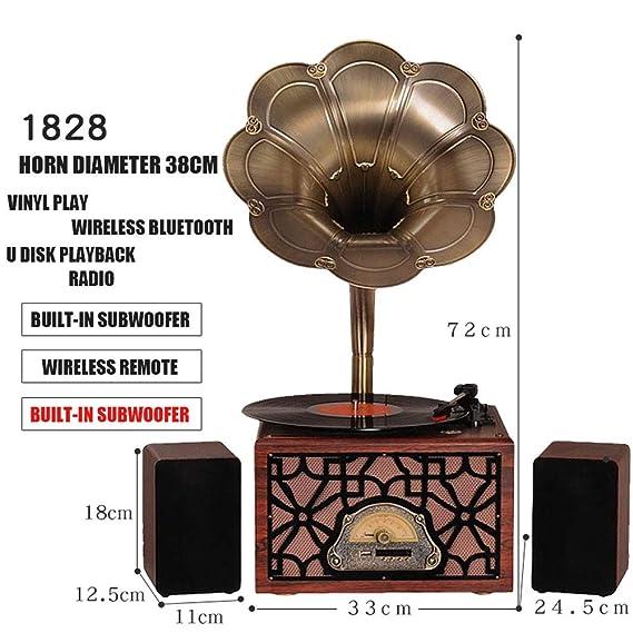 LVSSY-Gramófono Tocadiscos de Vinilo Vintage Decoracion ...