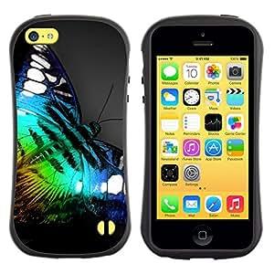 Suave TPU GEL Carcasa Funda Silicona Blando Estuche Caso de protección (para) Apple Iphone 5C / CECELL Phone case / / Iridescent Butterfly Blue Green Nature /