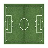 Polyester Square Tablecloth,Teen Room Decor,Soccer Field Grass Motif Stadium Game Match Winner Sports Area Print,Fern Green White,Dining Room Kitchen Picnic Table Cloth Cover,for Outdoor Indoor