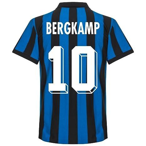 86 - 87 del Inter de Milán Home camiseta Retro + Bergkamp 10 ...