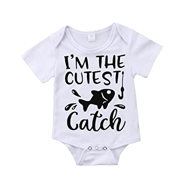 1567eb830 Amazon.com  Honganda Cute Newborn Infant Baby Girl Boy Short Sleeve ...