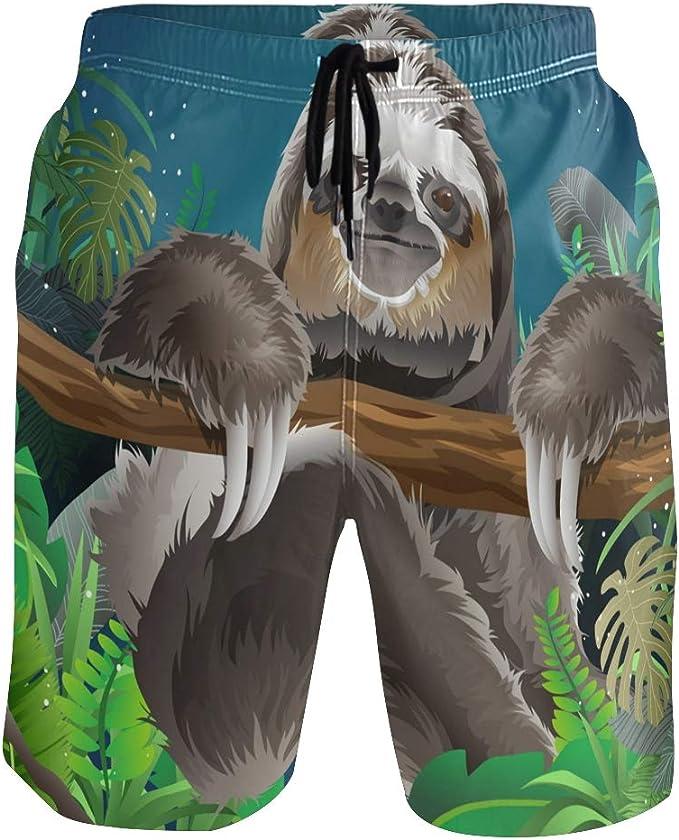 KGuanJi Beach Shorts for Men Quick Dry Mesh Lining Holiday S M L XL XXL
