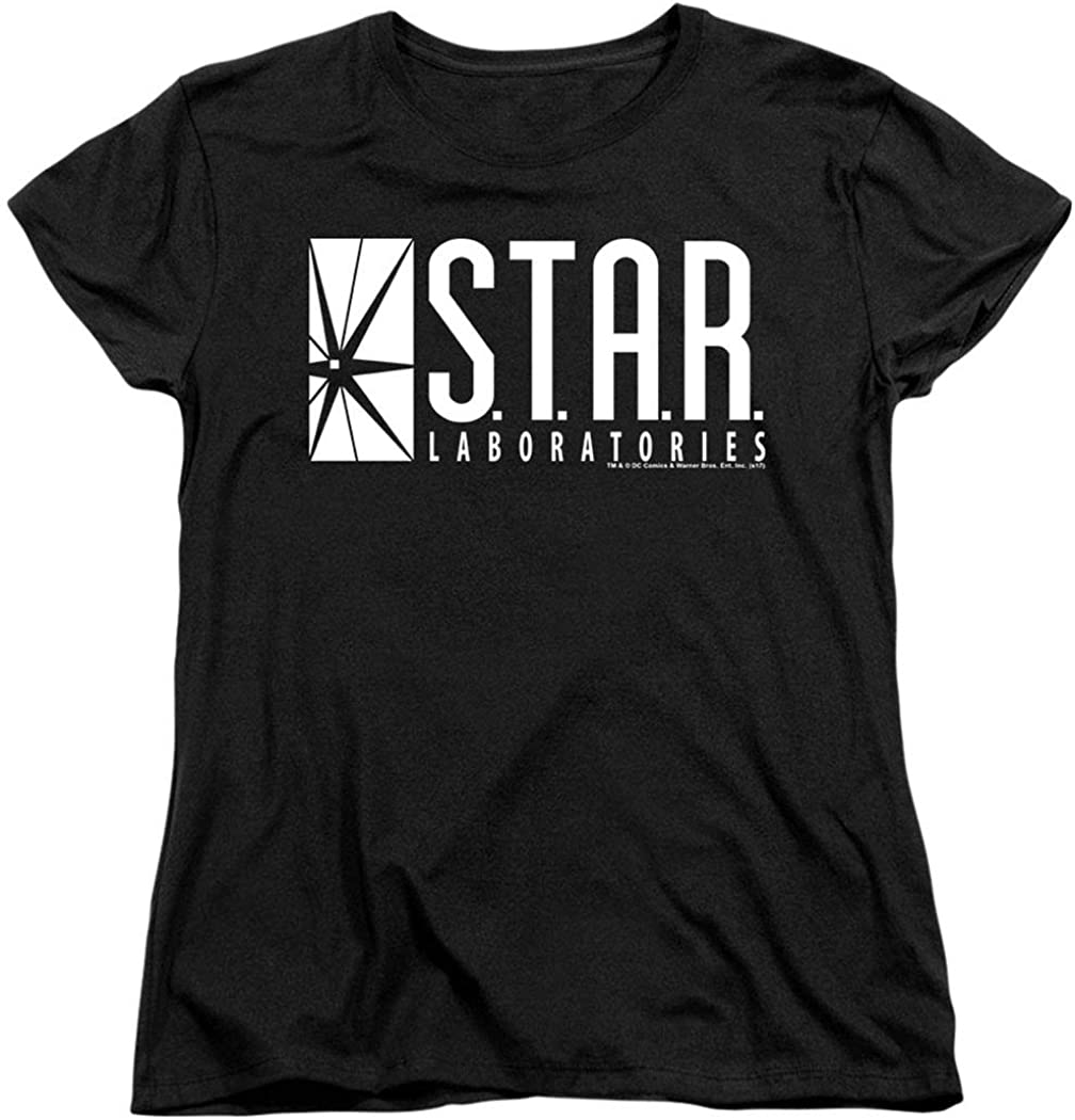 The Flash STAR Laboratories t-shirt Mens Black short Sleeve free shipping women