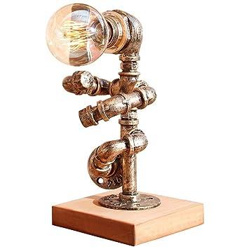 LNDDP Lámpara Escritorio, lámpara Mesa Hierro Loft Industrial ...