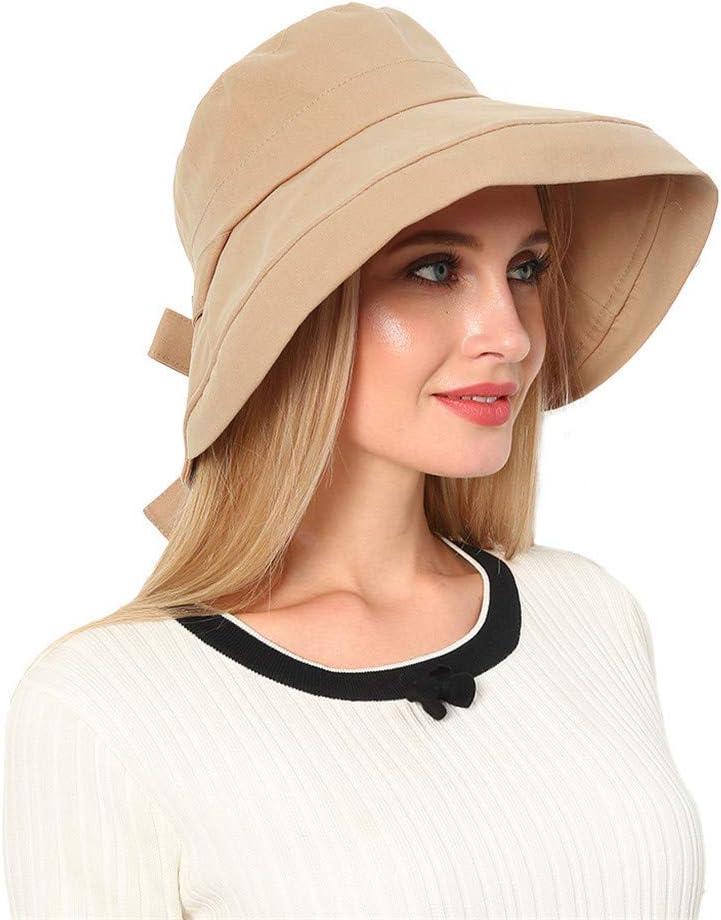 E Sun Cap For Women Summer Foldable Wide Brim Floppy Cap Anti-UV Fisherman Hat By Sagton