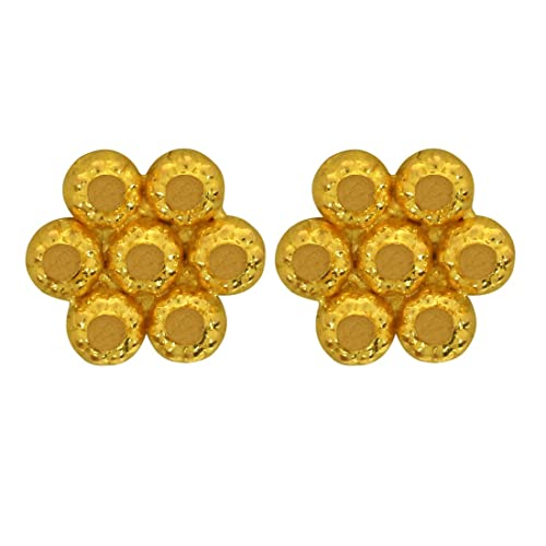 Joyalukkas 22KT  916  Yellow Gold Stud Earrings for Women  BN11203264  Women's Earrings