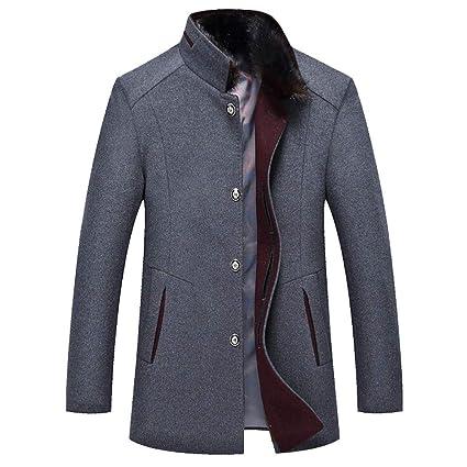 Clearance Sale for Coat.AIMTOPPY Mens Fashion Business Windbreaker Long Thicken Slim Woolen Coat Outwear