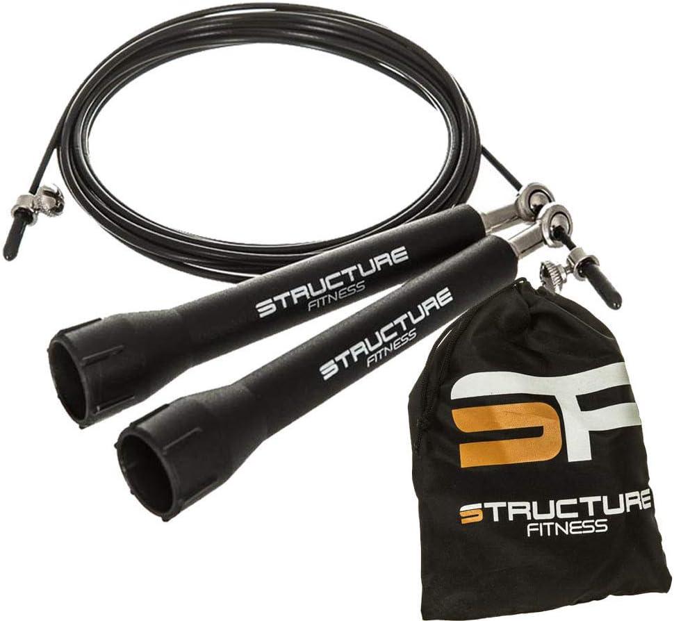 gimnasio y crossfit Structure Fitness Comba con cable de acero ajustable para fitness boxeo