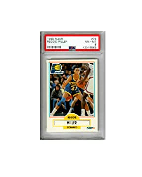 Fleer 1990 Reggie Miller Indiana Pacers # 78 NM-MT PSA 8 ...