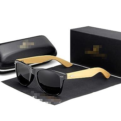 Amazon.com: Gafas de sol polarizadas de bambú para hombre ...