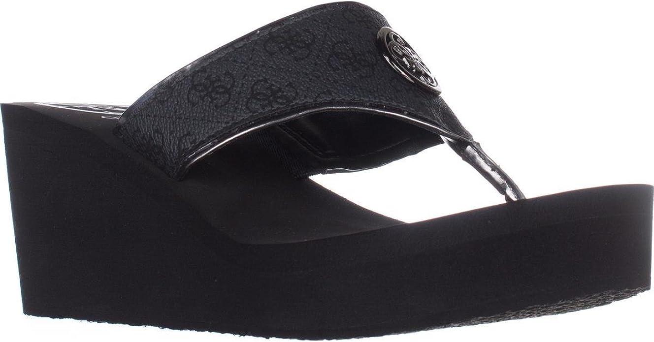 GUESS Women's Solene Black 5 M US
