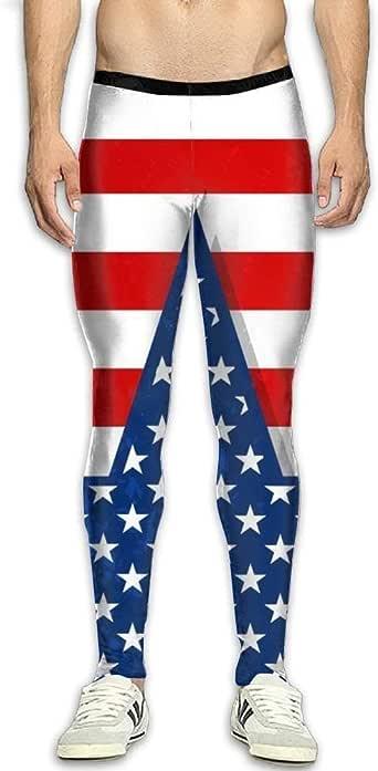 Men's Compression Leggings Pants Cartoon Owl Pants Baselayer Running Tights 3D Print High Waist Sports Legging