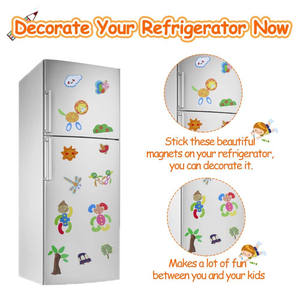 Fajiabao Puzzle Magnetico de Dibujo de Madera de Doble Cara Pizarra Magnética Infantil Puzzle Rompecabezas Juguetes Tablero Magnetico Educativos ...