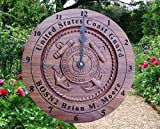 Personalized Coast Guard Wall Clock Retirement gifts, for her the veteran, Custom 5th anniversary wood gifts for men, 3D carved wooden clock military service anniversary Engraved gift