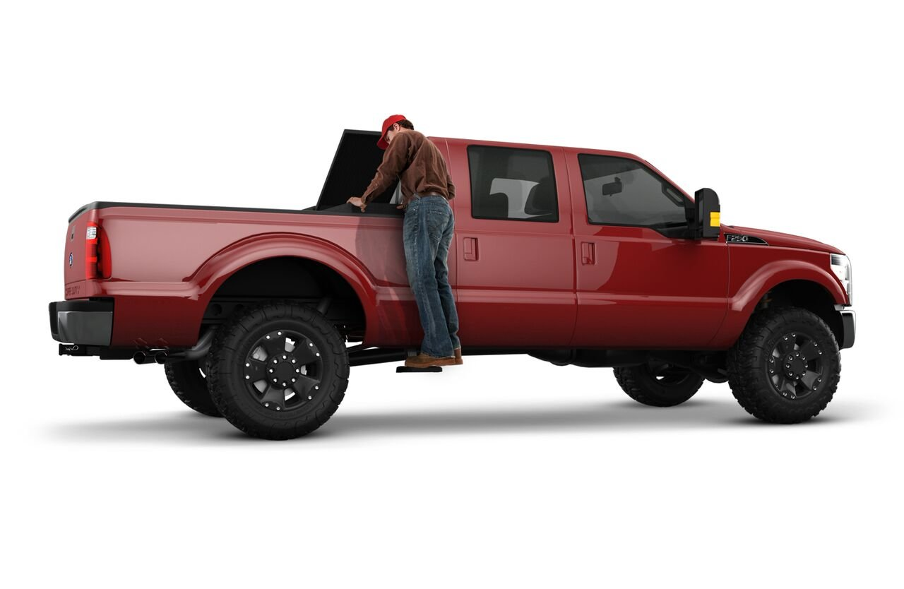 AMP Research 75411-01A BedStep2 Retractable Truck Bed Side Step for 2014-2018 Ram 2500//3500 Excludes Dually