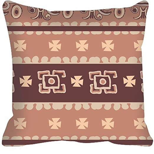 Azteca Estilo geométrico manta funda de almohada manta funda ...