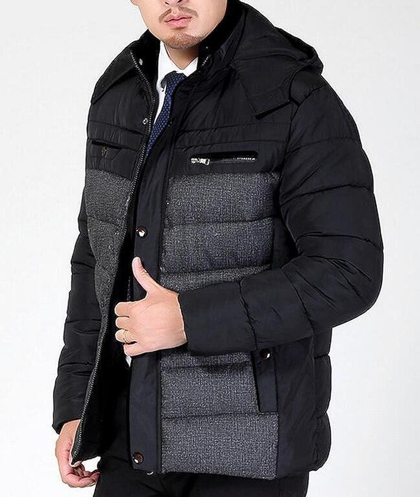 SBABY-Men Winter Warm Hooded Lightweight Cotton Quilted Jacket