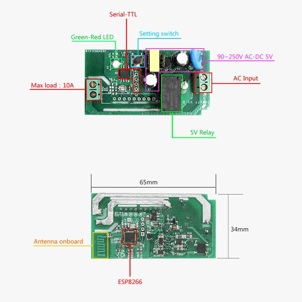 LUFA Sonoff Commutateur Wi-Fi Contr/ôle sans fil Automatisme Prise de courant intelligente DIY Smart Home Travaillez avec  Echo Support Alexa iOS Android