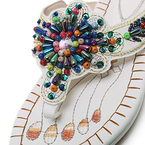 Mujer DoraTasia de Bajas 2 Sintético White Zapatillas 7IqIgrF