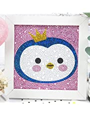 Maydear Small and Easy DIY 5d Diamond Painting Kits with Frame for Beginner with White Frame for Kids 6X6 inch