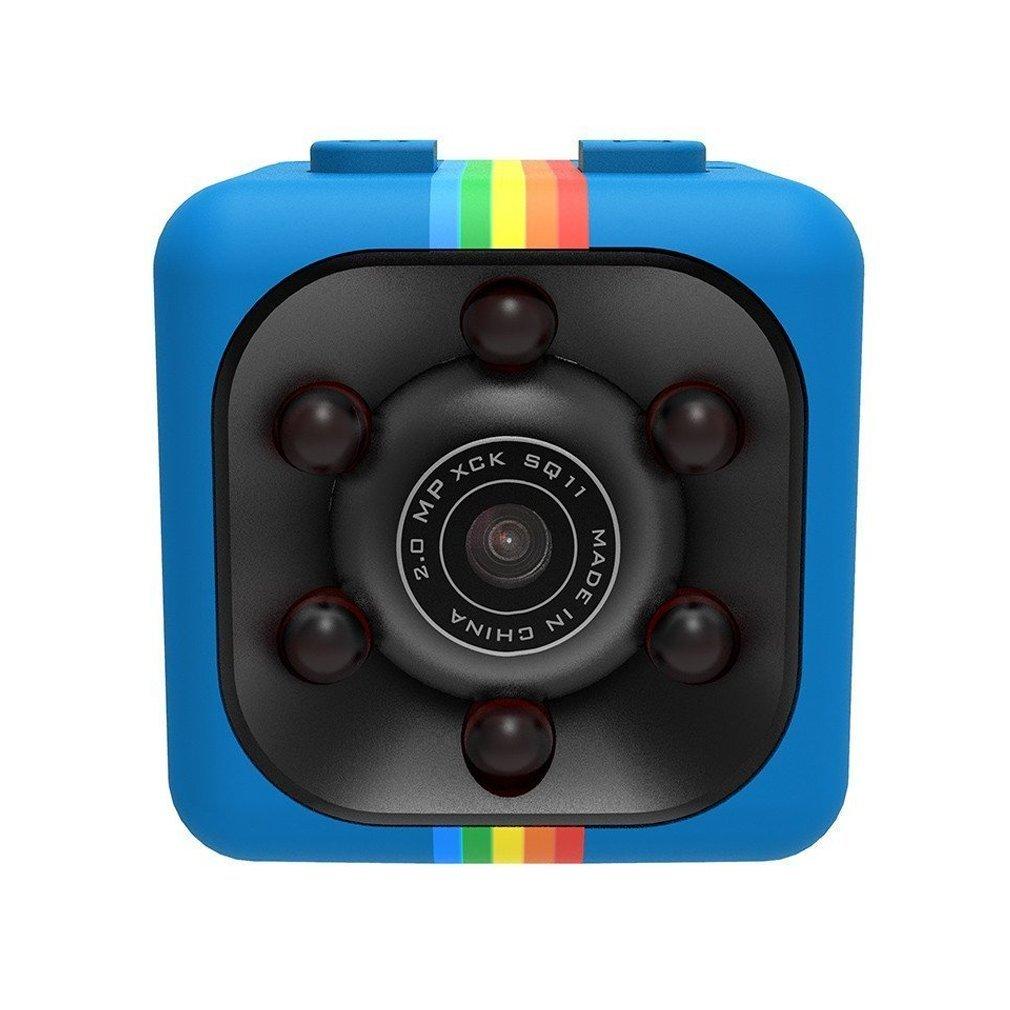 12 MPミニカメラsq11 HDビデオカメラHD 1080pスポーツミニDV赤外線夜Vsion, 4G45449OXXSB3MN41757QRCSY B07CZHKQ2K ブルー ブルー