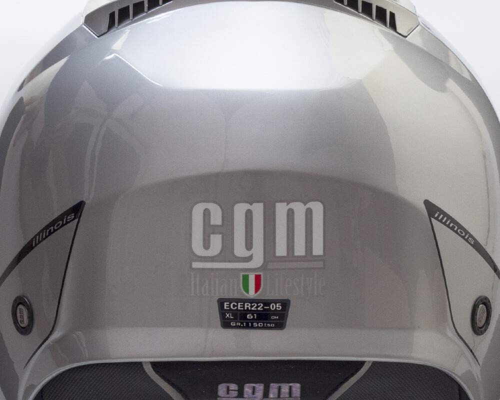 S Bianco Casco demi jet CGM 129A ILLINOIS