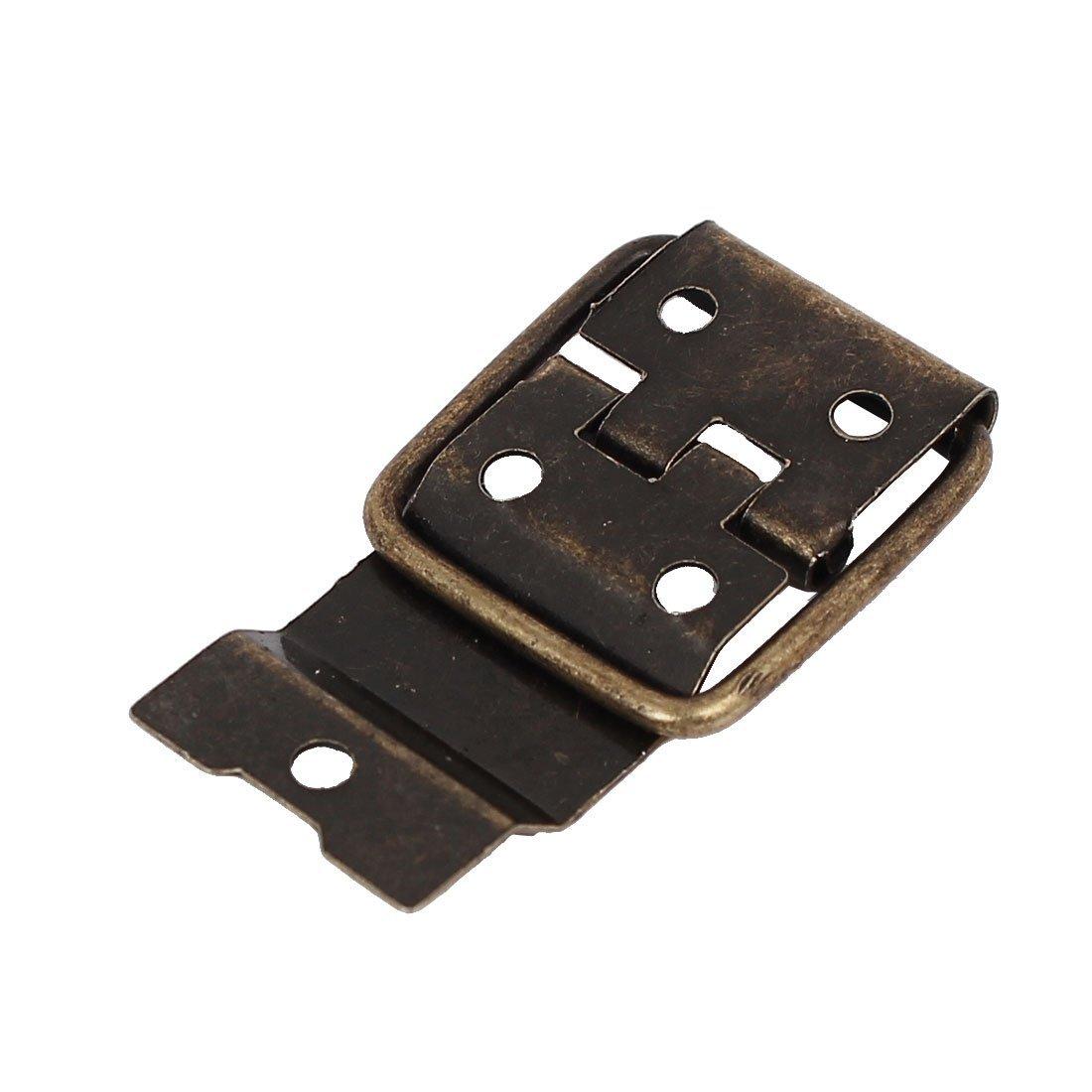 eDealMax Box Case 37.5mmx16.5mm Style rétro positionnement Soutien Hinges Bronze 20pcs Tone