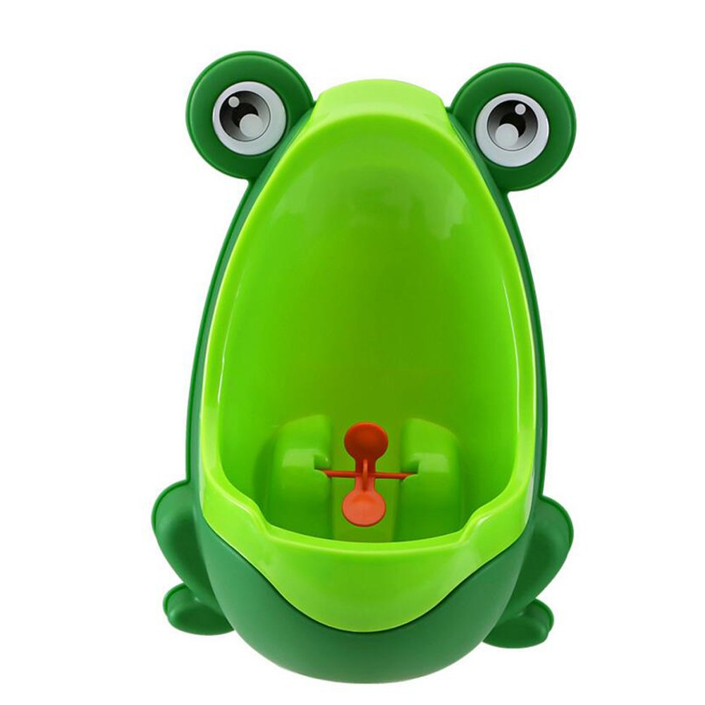 JUNBOSI Potty Strong Sucker Hanging Potty Frog Children Potty Easy Clean, Funky Designs For Potty Training Your Boy – For Happy Toddler Potty Training (Color : Green)