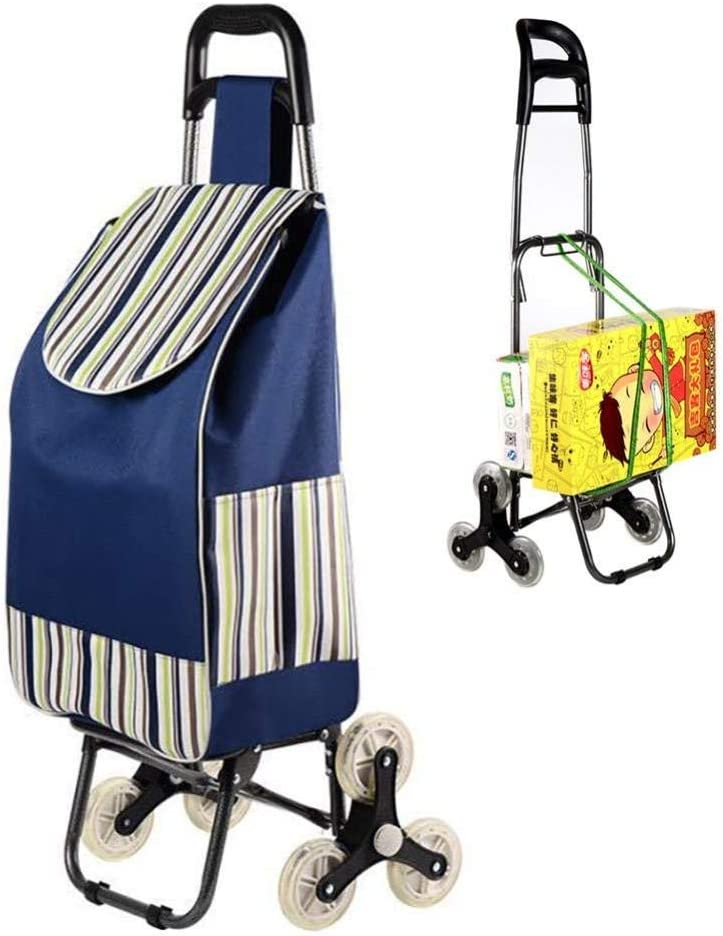 DEED Multi-Function Shopping Trolleys,Kitchen Folding Carts Large and Lightweight Trolley Cart with Swivel Front Wheels,Waterproof Detachable Bag,Max Capacity 50 Kg Walking Assist Utility Carts