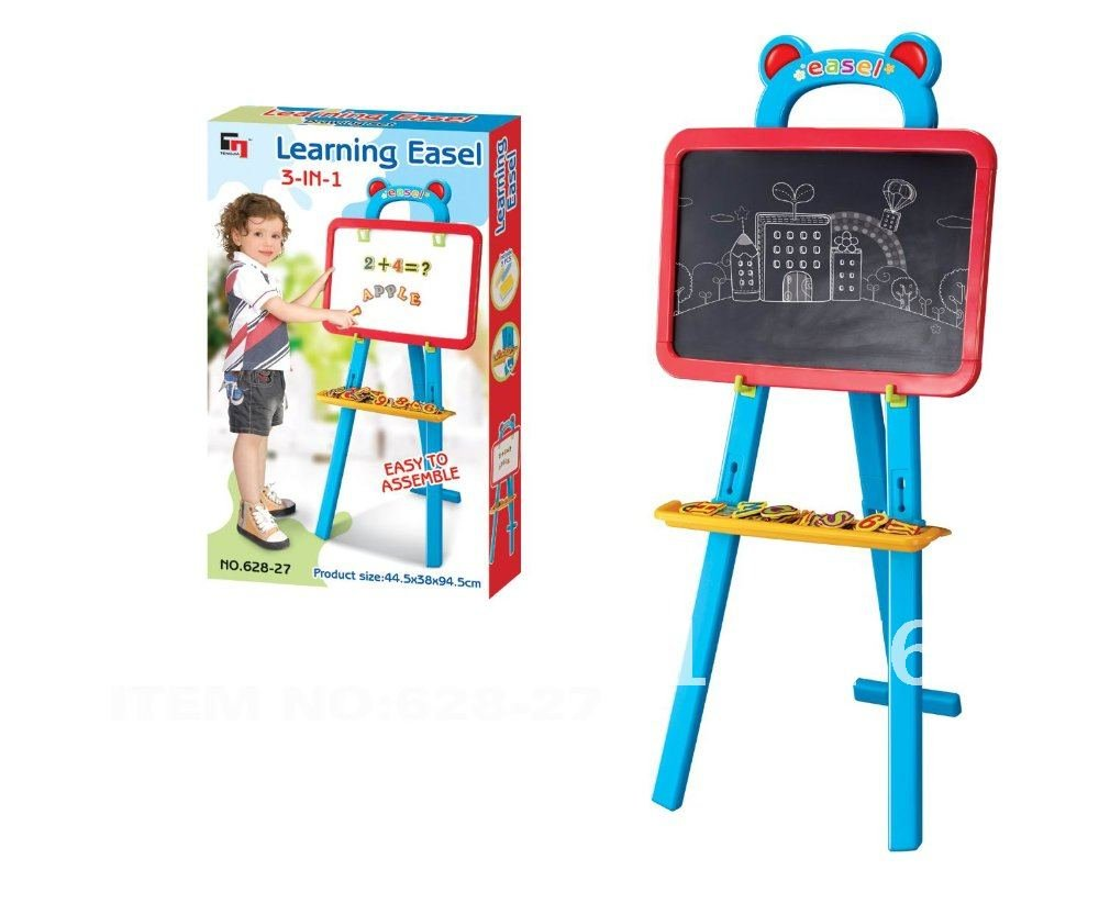 3-in-1 Alphabet Learning Standing Easel Board for Kids