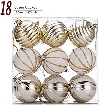 Sanno 18ct Christmas Balls Painting & Glittering Ornaments