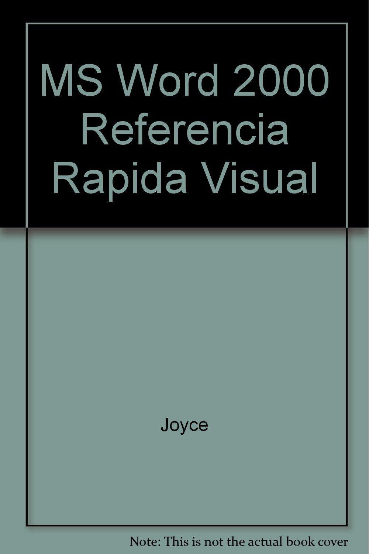 Ms Word 2000 Referencia Rapida Visual (Spanish Edition) pdf epub